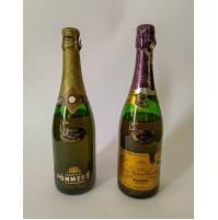 ♥ 2 BOTTIGLIE VINTAGE Veuve Clicquot Ponsardin, Champagne Pommery 1973 75cl brut