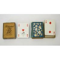 ♥ 2 SET OF PLAYING CARDS BALLANTINE'S + J.K. SMIT & SONS DIAMOND TOOLS VINTAGE