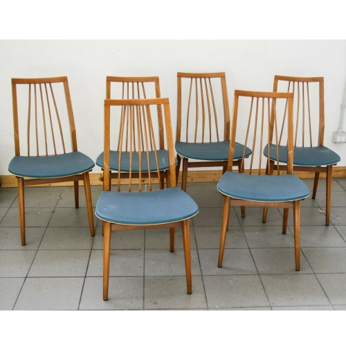 6 sedie mid century design vintage anni 50 italian nordic for Sedie vintage design