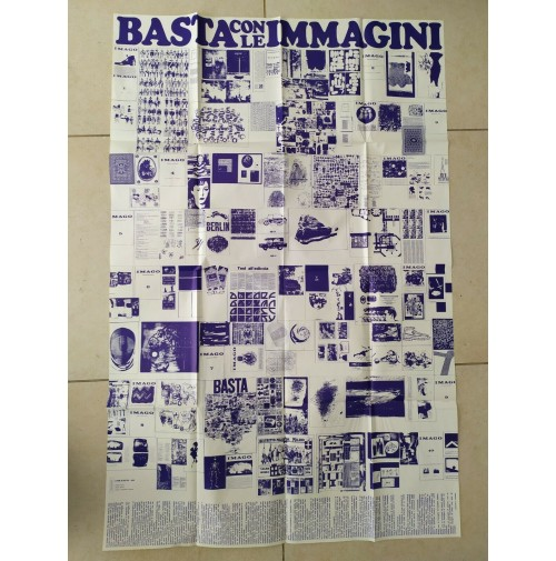 ♥ BASTA CON LE IMMAGINI Giancarlo Iliprandi stampa grafica imago 10 1967 vintage