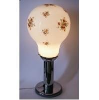 ♥ BIG BOULE LAMPADA VINTAGE ANNI 70 VETRO MURANO CROMATA BIRILLO DESIGN SPACE