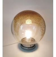 ♥ ENORME LAMPADA SFERA BOULE VINTAGE VETRO MURANO ORO BROTTO DESIGN VEART NASON