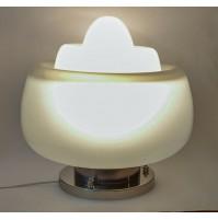 ♥ ENORME LAMPADA SPACE AGE TONY ZUCCHERI DESIGN MAZZEGA MURANO VINTAGE CHROME