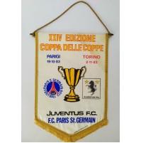 ♥ GAGLIARDETTO JUVENTUS PARIS SAINT GERMAIN XXIV COPPA DELLE COPPE 1983 84 psg