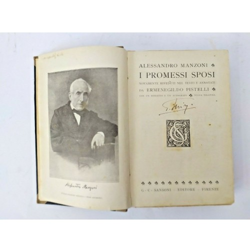 ♥ I PROMESSI SPOSI Alessandro Manzoni annotati da Ermenegildo Pistelli 1931 T39