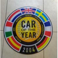 ♥ INSEGNA LOGO DISCO CAR OF THE YEAR 2004 AUTO DELL'ANNO PANDA FIAT TABELLA SIGN