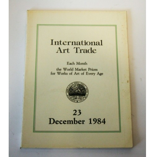 ♥ INTERNATIONAL ART TRADE 23 December 1984 Risultati d'asta arte Christie's