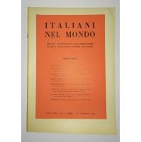 ♥ ITALIANI NEL MONDO RIVISTA QUINDICINALE N. 4 25 FEBBRAIO 1961 Emigrazione
