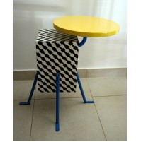♥ KRISTALL SIDE TABLE DESIGN 1981 MICHELE DE LUCCHI MEMPHIS MILAN TAVOLINO