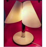 ♥ LAMPADA DA TAVOLO 3 LUCI VINTAGE DESIGN FEDERICO DE MAJO VETRO DI MURANO 1988