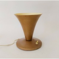 ♥ LAMPADA DA TAVOLO A CONO VINTAGE MID CENTURY DESIGN SABBIA ABAT JOUR stilnovo