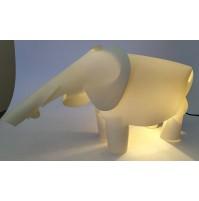 ♥ LAMPADA DA TAVOLO A FORMA DI ELEFANTE IN PLASTICA MORBIDA BIANCA NAOS DESIGN