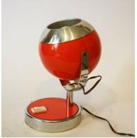 ♥ LAMPADA DA TAVOLO BALL LIGHT REGGIANI METAL ART ORANGE VINTAGE SPACE AGE 70