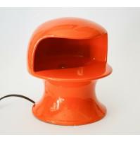 ♥ LAMPADA DA TAVOLO IN CERAMICA ARANCIO VINTAGE DESIGN ANNI 70 POP gabbianelli
