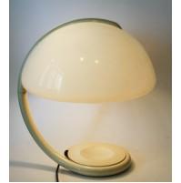 ♥ LAMPADA DA TAVOLO SERPENTE DESIGN ELIO MARTINELLI LUCE VINTAGE ANNI 70 BIANCA