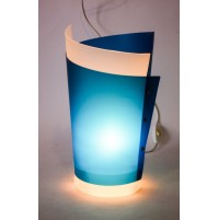 ► LAMPADA DA TAVOLO SLAMP DESIGN SAMUEL PARKER BLU PLASTIC ART VINTAGE