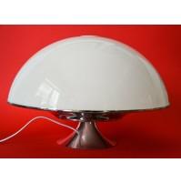 ♥ LAMPADA DA TAVOLO SPACE AGE UFO MUSHROOM VINTAGE DESIGN ANNI 70 METAL ART