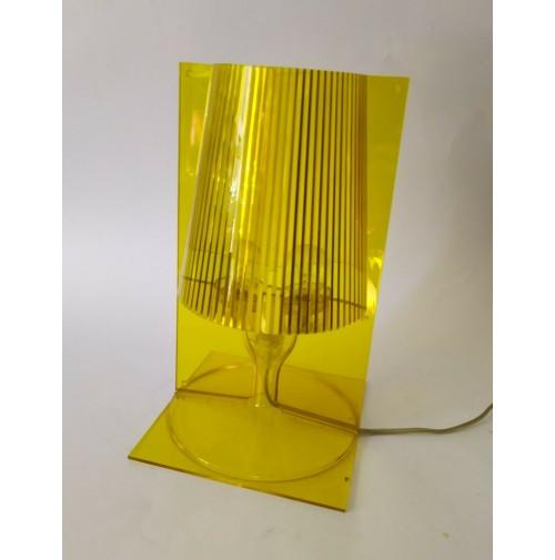 ♥ LAMPADA DA TAVOLO TAKE KARTELL GIALLA VINTAGE DESIGN LAVIANI DESK LIGHT