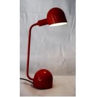► LAMPADA DA TAVOLO VINTAGE SPACE AGE DESIGN Luci Lumina Anni 70 Rossa