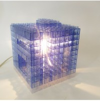 ♥ LAMPADA MODULARE KREATON DESIGN SERGIO NAVA PER NTT 2000 DA TAVOLO lego blu
