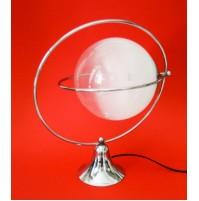 ♥ LAMPADA SATELLITE UFO CHROMED LIGHT VINTAGE DESIGN ANNI 70 COPPA VETRO MURANO