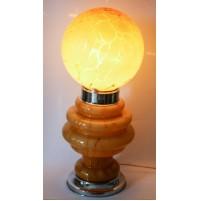 ♥ LAMPADA VINTAGE DESIGN SPACE AGE IN VETRO MAZZEGA BIRILLO 70 CM ANNI 70 OCRA