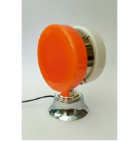 ♥ LAMPADA YO-YO VINTAGE DESIGN DOPPIO VETRO BIANCO ARANCIONE SPACE AGE ANNI 70