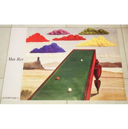 ♥ MAN RAY La Fortune II Poster 1987 VINTAGE OFFSET LITOGRAPH ART DESIGN 61x86 cm