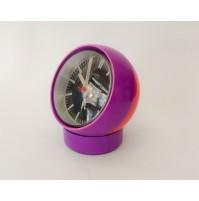 ♥ OROLOGIO SPACE AGE ANNI 70 BALL CLOCK ATLANTA ELECTRIC VIOLA ROSSO VINTAGE