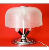 ♥ PARTICOLARE LAMPADA DA TAVOLO VINTAGE A 6 LUCI DESIGN SPACE AGE CHROME PLASTIC