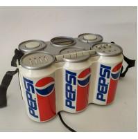 ♥ PEPSI RADIO PORTATILE SP-3 6 PACK LATTINE VINTAGE CASSETTE CON SCATOLA coke