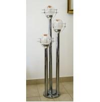 ♥ PIANTANA LAMPADA DESIGN MAZZEGA CHROMED FOOR LAMP ANNI 70 SATELLITE MURANO
