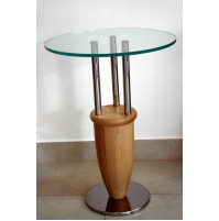 ♥ RARO TAVOLINO ANTONIO DESIGN MARCO ZANUSO MEMPHIS 1987 SIDE TABLE FAGGIO