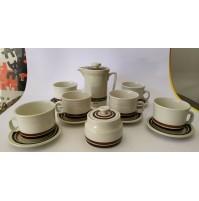 ♥ SERVIZIO DA CAFFè CERAMICA RICHARD GINORI LAVENO CILENTO LINE DESIGN CAMPI 70