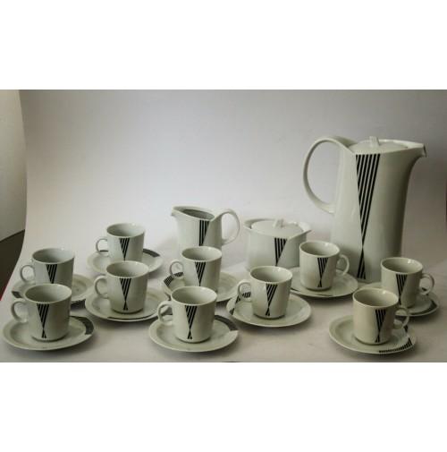 ♥ SERVIZIO DA CAFFè IN CERAMICA x 10 PERSONE VINTAGE MITTERTEICH BAVARIA MEMPHIS