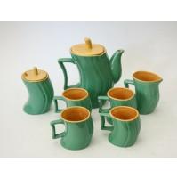 ♥ SERVIZIO DA CAFFè IN CERAMICA x4 DESIGN MASSIMO IOSA GHINI NAJOLEARI MEMPHIS