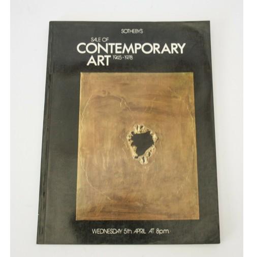 ♥ SOTHEBY'S SALE OF CONTEMPORARY ART 1945-1978 5 APRILE CATALOGO ASTA