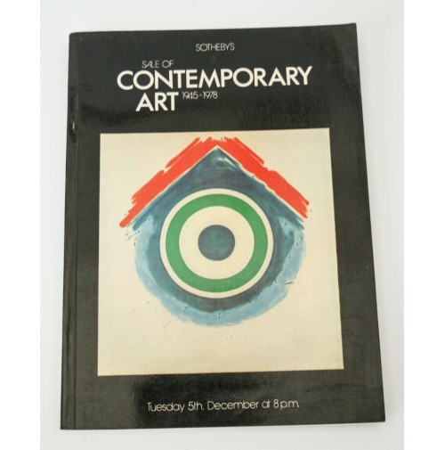 ♥ SOTHEBY'S SALE OF CONTEMPORARY ART 1945-1978 5 DICEMBRE CATALOGO ASTA