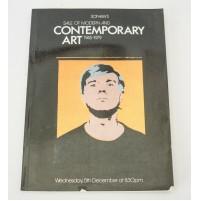 ♥ SOTHEBY'S SALE OF MODERN & CONTEMPORARY ART 1945-1979 5 DICEMBRE CATALOGO ASTA