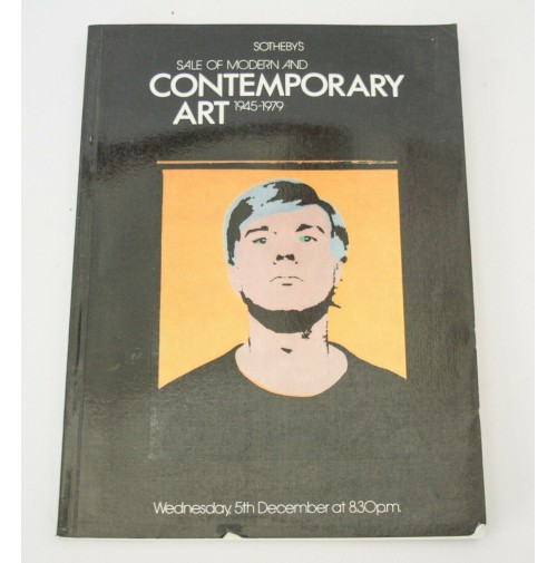 ♥ SOTHEBY'S SALE OF MODERN & CONTEMPORARY ART 1945-1979 5 DICEMBRE CATALOGO ASTA