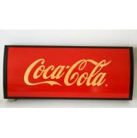 ► TABELLA INSEGNA COCA COLA LUMINOSA VINTAGE DESIGN ANNI 80 COKE base legno