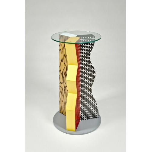 ♥ TAVOLO IVORY DESIGN ETTORE SOTTSASS MEMPHIS 1985 SIDE TABLE tavolino de lucchi