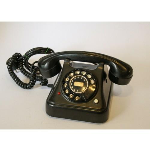 ♥ TELEFONO A DISCO VINTAGE IN BACHELITE NERO ANNI 50 ALBISWERK DESIGN sip fatme