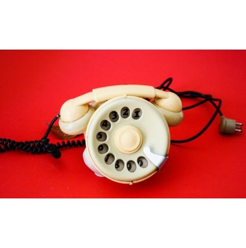 ♥ TELEFONO BOBO TELCER PHONE VINTAGE DESIGN SERGIO TODESCHINI ANNI 70 bianco pop