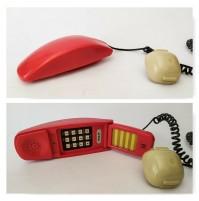 ♥ TELEFONO ROSSO EULIT TIPO GRILLO VINTAGE DESIGN SPACE AGE ANNI 70 SIP
