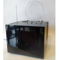 ♥ TV BRIONVEGA BLACK ST 201 SERIE VR CUBOGLASS CUBO VINTAGE DESIGN ZANUSO SAPPER