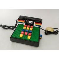 ♥ TYCO TELEFONO LEGO VINTAGE DESIGN PHONE ANNI 80 MATTONCINI FUNZIONANTE
