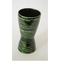 ♥ VASO IN CERAMICA VINTAGE WEST GERMANY 244-17 ANNI 60 70 POP SPACE AGE verde