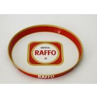♥ VASSOIO BIRRA RAFFO IN LATTA VINTAGE ANNI 70 ROTONDO PUBBLICITARIO BAR peroni