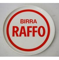 ♥ VASSOIO BIRRA RAFFO IN MEBEL VINTAGE ANNI 70 ROTONDO PUBBLICITARIO BAR plastic